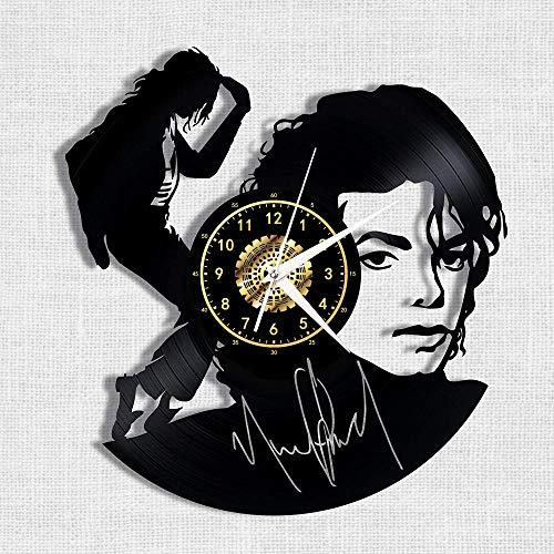 Michael Jackson Orologio Da Parete In Vinile Nero Orologio Da Parete Retrò Decorazioni Per La Casa Regalo Di Natale 12 Pollici Senza Luce A Led