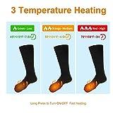 Elektrische beheizte Socken, 1 Paar Batterie warme Socken kaltes Wetter Thermische Socken Sport Outdoor Camping Wandern warme Winter Socken für Männer Frauen - 3