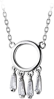 Necklace الزركون مطعمة حلم الماسك S925 الفضة الاسترليني قلادة الترقوة سلسلة قلادة مزاجه الإناث Women's Chain Necklaces
