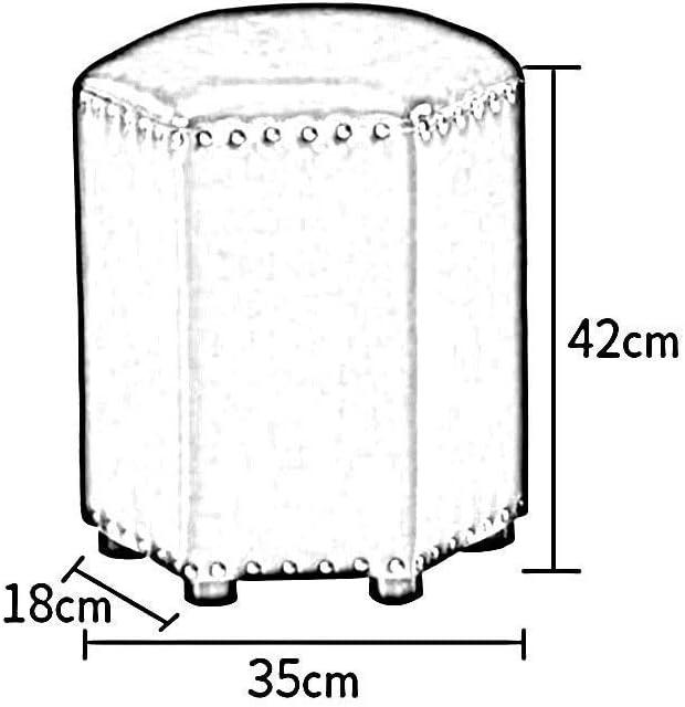 YUMUO Pouf rembourré Pouf Pouf en Similicuir Tabouret de canapé Tabouret de Table Basse (Couleur: Marron, Taille: 32 * 36cm) 8