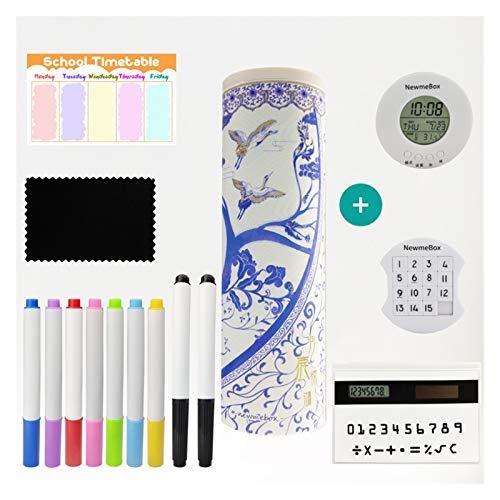 YGLONG Caja De PapeleríA De Arenas Movedizas Caja de lápiz Blanco y Azul Pluma lápiz de lápiz Caja de papelería girld como Regalo Estuche Escolar (Color : Gift3)