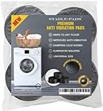 STABLE-PADS Rubber, Non-Slip Anti Vibrasion Pads for Washing Machine | Rubber Feet for Furniture or Laundry Pedestal for Washer and Dryer | Anti Vibration Pads Fits All Models