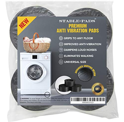 STABLE-PADS Rubber, Non-Slip Anti Vibrasion Pads for Washing...