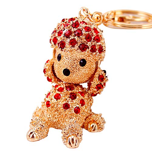 Fovor Valentines Decorations Gifts, Dog Crystal Rhinestone Keyrings Key Chains Holder Purse Bag Charm Pendant Toy