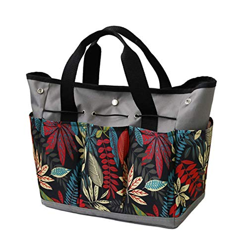 Photo of Gardening tools set with 9 Pockets  Approx 18.8 x 12 x 0.39 inch for Gardening Tool Storage Bag Multifunction Handing Garden Tote with Pockets