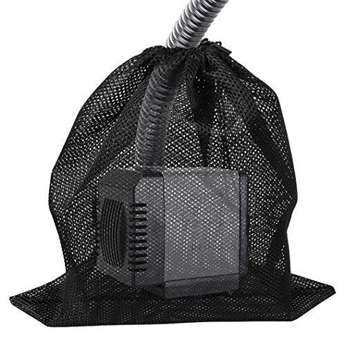 ZSDN Praktischer Filterbeutel Pump Barrier Bag mit Kordelzug Mesh Pump Pump Filter Bag, verwendet für Teichaquarium und Außenschwimmbad Medienfilterbeutel (schwarz)