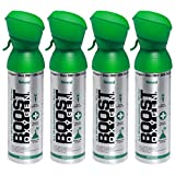 Boost Oxygen Supplemental Oxygen to Go | All-Natural Respiratory Support for Health, Wellness, Performance, Recovery and Altitude (5 Liter Canister, 4 Pack, Natural)