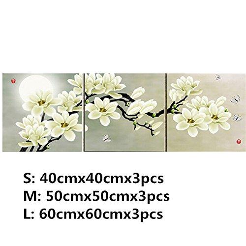 Aliciashouse 3 Stks Wit Orchidee Combinatie Schilderen Op Doek Frameless Tekenen Thuis Achtergrond Muurdecoratie