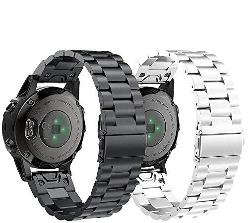 SUPORE Armband für Fenix 5S Smartwatch, 20mm Rostfreier Stahl Armband Easy Fit Ersatz Uhrenarmband für Fenix 5S/Fenix 5S Plus/Fenix 6S/Fenix 6S pro/Fenix 6S Sapphire und mehr
