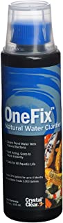 CrystalClear OneFix - Natural Water Clarifier - 8 Ounces Treats up to 3,000 Gallons