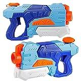 D-FantiX Water Guns 2 Pack, Super Water Blaster Soaker Squirt Guns 550CC Long Range Summer Swimming...