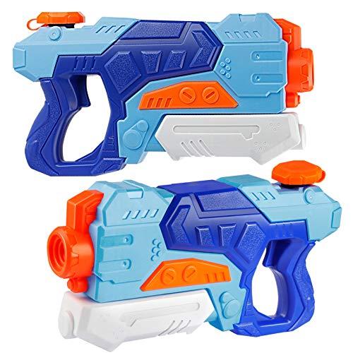 D-FantiX Water Guns 2 Pack, Super Water Blaster Soaker Squirt Guns 550CC Long Range Summer Swimming Pool Beach Party Favors Water Outdoor Toy for Kids Adults Boy Girl
