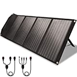 ROCKPALS RP082 100w Foldable Solar Panel Charger with Kickstand, Parallel Cable, QC 3.0 and USB-C,...