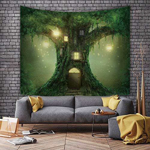 KHKJ Schöne Sternenhimmel Nebel Landschaft Wandteppich Wohnzimmer Schlafzimmer Hintergrund Stoff Digitaldruck Hängende...