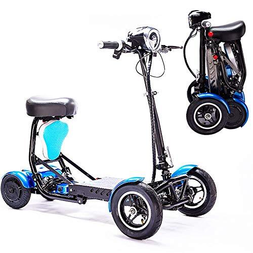 Scooter eléctrico de Movilidad Plegable, Ligero, Plegable, eléctrico, Silla de Ruedas, Handicap,...