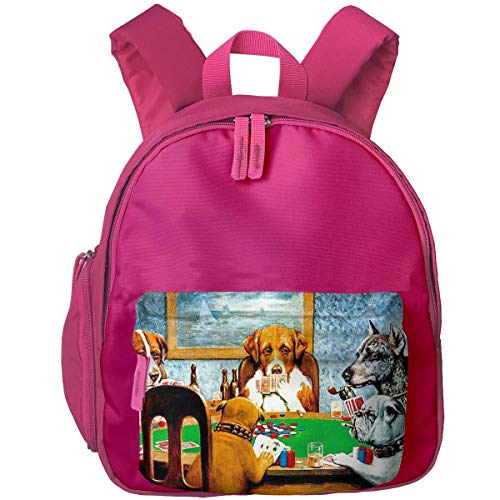 ADGBag Kinderrucksack Schultasche Dogs Playing Poker Funny Children's/Kids School/Nursery/Picnic/Carry/Travelling Bag Backpack Daypack Bookbags