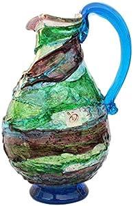 Jarra de cristal de Murano OMG Sbruffi Laguna