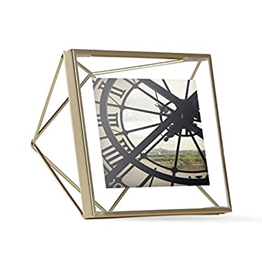 Umbra Prisma Picture Frame, 4 by 4-Inch, Matte Brass
