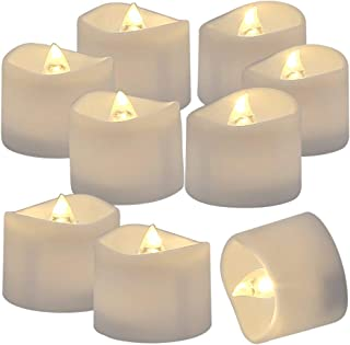 Battery Operated LED Tealights, Pack of 24, Flameless Tea Lights with Warm White Light, Electric Candles Realistic for Wed...