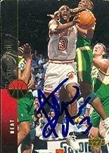 Steve Smith autographed Basketball Card (Miami Heat) 1994 Upper Deck #37 - Basketball Autographed Cards