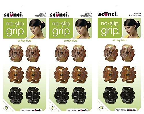 Price comparison product image Scunci No Slip Octopus Jaw Clips,  18 ct,  Mini,  2.5 cm