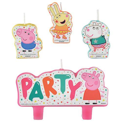 Amscan, decorazione per torta di compleanno con Peppa Pig, 4 pezzi