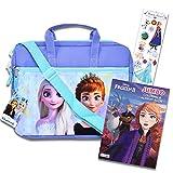 Frozen Tablet Case Frozen Travel Bag Bundle ~ Frozen Messenger Bag With Frozen Coloring Book and Stickers (Frozen Sling Bag | Frozen School Supplies)
