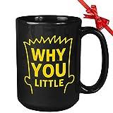 N\A Taza de café de la Serie de televisión - por qué Eres pequeño - Temporada Comedia Animada Dibujos Animados Divertida Serie de televisión Americana Bart Springfield Citas únicas