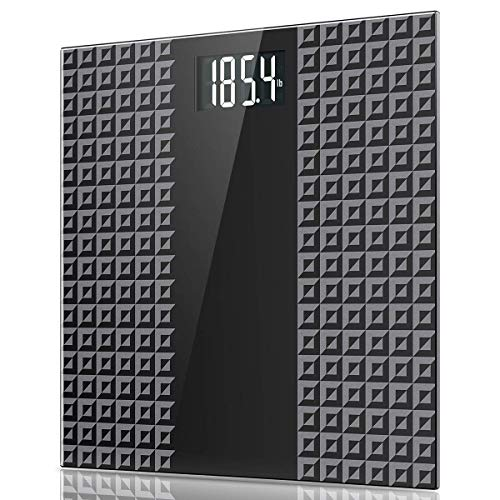 Digital Body Weight Bathroom Scale, Large Backlit Display with 8 Seconds Consistent Accurate Reading, Non-Slip Matte Wide Platform, 400 Pounds, Black