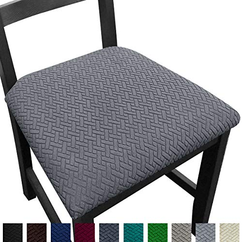 NORTHERN BROTHERS Seat Covers for Dining Room Chair Seat Covers (Set of 6, Gray)