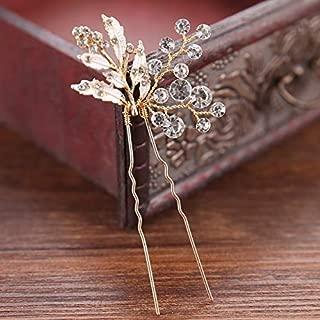 FaFaVila Set of 3 Wedding Hair Pin Rhinestones Crystal Vintage Bridal Hair Clips Combs for Brides and Bridesmaids (Style05)