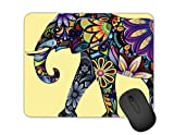 Personalized Watercolor Elephant Mouse Pad Non-Slip Rectangular Mouse Pad Computer Mouse Pad Gaming Mouse Pad