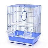 Jaulas de pájaros Pequeño Jaula PáJaros Carrier Parrot Portador Metal Jaulas de Pájaro para Periquitos Budgies Finches Los Cockatiels Incluyen Bandeja Inferior Birdcage de Jaula de pájaros