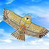 Grande Cometa, cometa Niños Bird cometas for niños fácil de volar for la playa Uso, al aire libre juegos y actividades 1,1 millones plana águila con 30 metros de la línea de la cometa Juegos al aire l