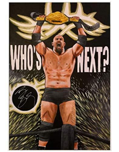 JYSHC WWE Luchador Dashi Johnson Personaje Arte Graffiti Lienzo Pintura Sala De Estar Dormitorio Gimnasio Decoración Xq541Zy 40X60Cm Sin Marco