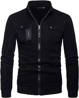 TIMEMEAN Coat for Men Full Zip Sale Autumn Winter Long Sleeve Jacket Lightweight Smart Gray