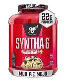BSN Syntha-6 Whey Protein Powder, Cold Stone Creamery- Mud Pie Mojo Flavor, Micellar Casein, Milk Protein Isolate Powder, 44 Servings