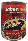 SABORMEX Frijoles Negros Refritos 3,170 kg Lata Grande de Frijoles Lista para Consumir Alubias Mexicanas para Tamales Quesadillas Fajitas Burritos