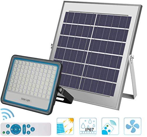100W LED Solar Flutlicht 176LED Dämmerung bis Morgengrauen Solarbetriebene Straßenlaterne Wasserdicht IP67 mit Fernbedienung