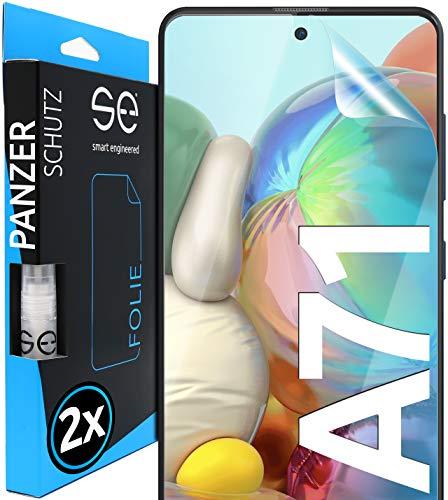 [2 Stück] 3D Schutzfolien kompatibel mit Samsung Galaxy A71 - [Made in Germany - TÜV NORD] - HD Displayschutz-Folie - Hüllenfreundlich – Transparent – kein Schutz-Glas - Panzer-Folie TPU - Klar