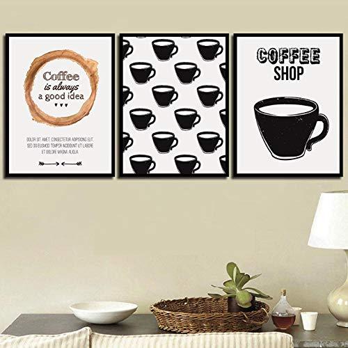 Terilizi Canvas muurkunst schilderij koffie poster Samenvatting platform Minimalistische kleur Pop Print Afbeeldingen woonkamer Home Decoration 40 * 60cm-niet ingelijste 3 stuks