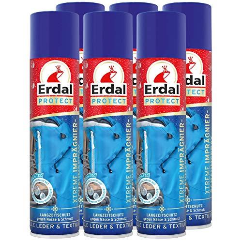 Erdal 6x Erdal Protect Xtreme Imprägnier-Schaumspray 400 ml - Gegen Nässe & Schmutz
