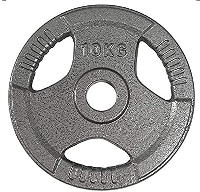 Digital Techno Olympic 2' Tri-Grip Cast Iron Weight Lifting Training Plates Disc for Free Lifting, Barbells, Dumbbells - Ideal for Home Gym 2.5KG, 5KG or 10KG (10)