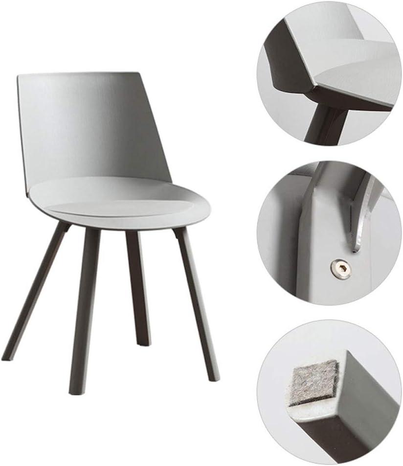 Dining chair Chaise de Salle à Manger WGZ - Chaise Moderne Minimaliste en Plastique - Chaise d'ordinateur Simple Bleu