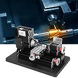 Jadpes Mini tornio da banco, TZ20002M 12000 RPM Tornio in Metallo Mini Alta Potenza 60 W per Lavorazione plastica Legno 100-240 V