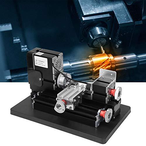 Mini Benchtop draaibank, TZ20002M 12000 tpm metalen draaibank Mini High Power 60W voor hout kunststofverwerking 100-240V