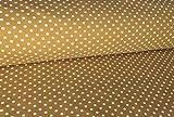 Qualitativ hochwertiger Jersey Stoff mit weißen Punkten