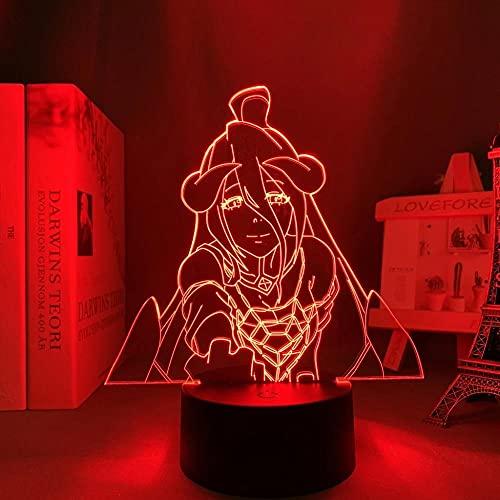 Lámpara LED 3D ilusión ilusión lámpara de escritorio, lámpara de escritorio japonesa de anime, lámpara de albedo para niños, decoración de dormitorio, luz nocturna, regalo de cumpleaños