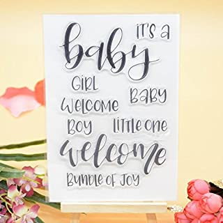 Welcome to Joyful Home 1pc it is a Baby Girl Clear Stamp for Card Making Decoration and Scrapbooking