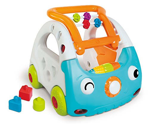 Infantino Minicar Evolutif 3-en-1 - Trotteur lumineux et musical avec poignée réglable pour...